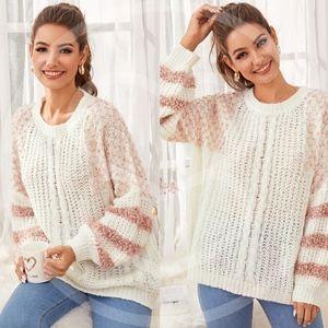 GEORGIA Color Block Knit Sweater